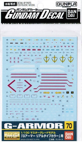 #70 Gundam Decal - G-Armor 1/100 MG