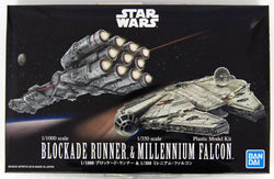 Star Wars 1/100 Blockade Runner & 1/350 Millennium Falcon