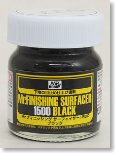 Mr. Finishing Surfacer 1500 BLACK Bottle Mr. Hobby