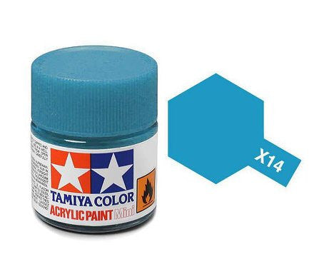 Tamiya Color Acrylic Paint 10ml Bottle X-14 Sky Blue