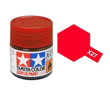 Tamiya Color Acrylic Paint 10ml Bottle X-27 Clear Red