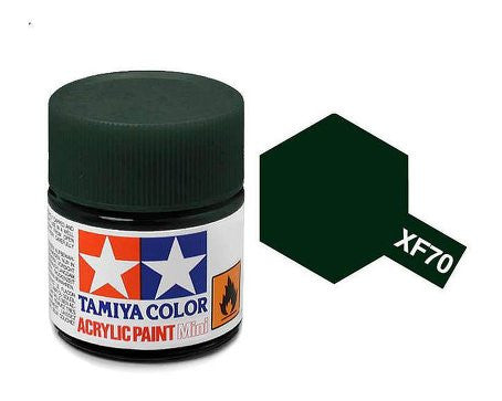 Tamiya Color Acrylic Paint 10ml Bottle XF-70 Dark Green 2