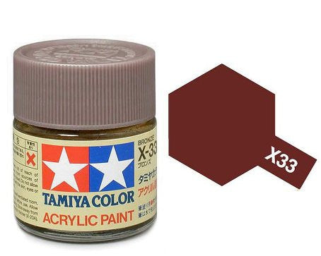 Tamiya Color Acrylic Paint 10ml Bottle X-33 Bronze