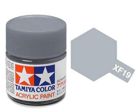 Tamiya Color Acrylic Paint 10ml Bottle XF-19 Sky Grey