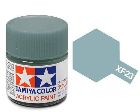 Tamiya Color Acrylic Paint 10ml Bottle XF-23 Light Blue