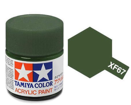 Tamiya Color Acrylic Paint 10ml Bottle XF-67 Nato Green