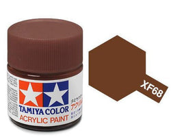 Tamiya Color Acrylic Paint 10ml Bottle XF-68 Nato Brown