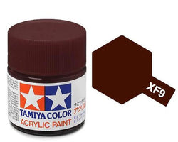 Tamiya Color Acrylic Paint 10ml Bottle XF-9 Hull Red