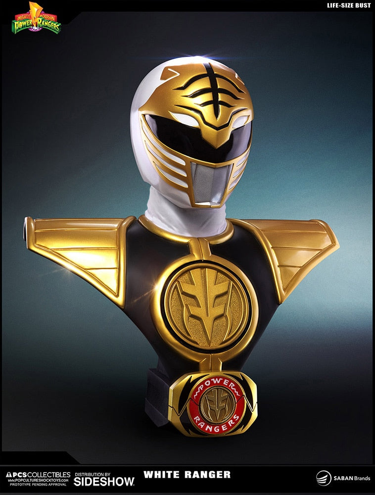 7a20260b6 White Ranger Life Size Bust - Mighty Morphin' Power Rangers