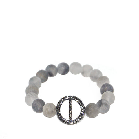 pave circle stretch bracelet