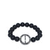 pave circle bar stretch bracelet