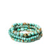 multishape coated metal bracelet set
