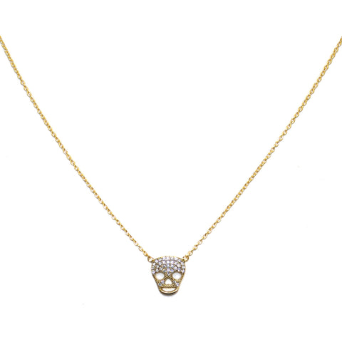 sterling skull necklace
