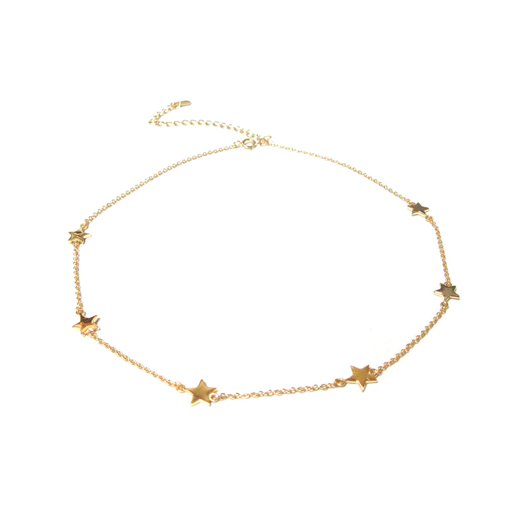 sterling star choker