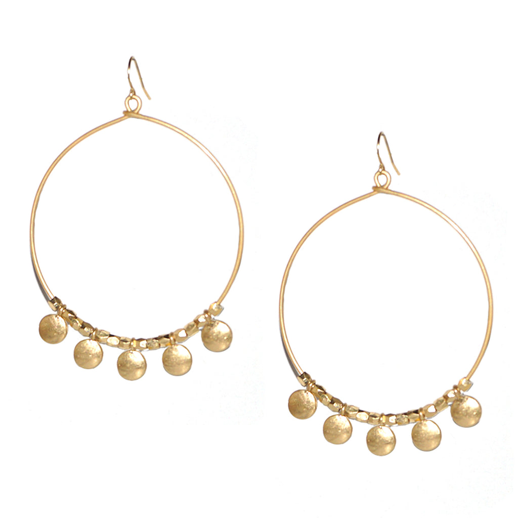 large circle bead earring