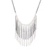 beaded chain fringe necklace