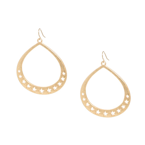star cutout teardrop earring