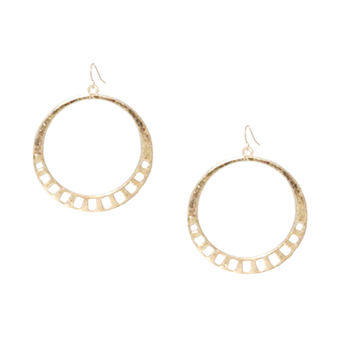 geo cutout circle earring