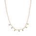 crystal mini metal drop necklace