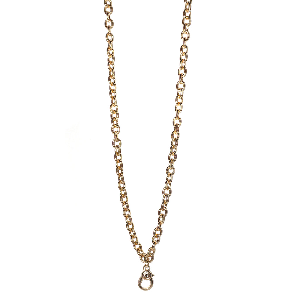 metal chain charm necklace for bale charms