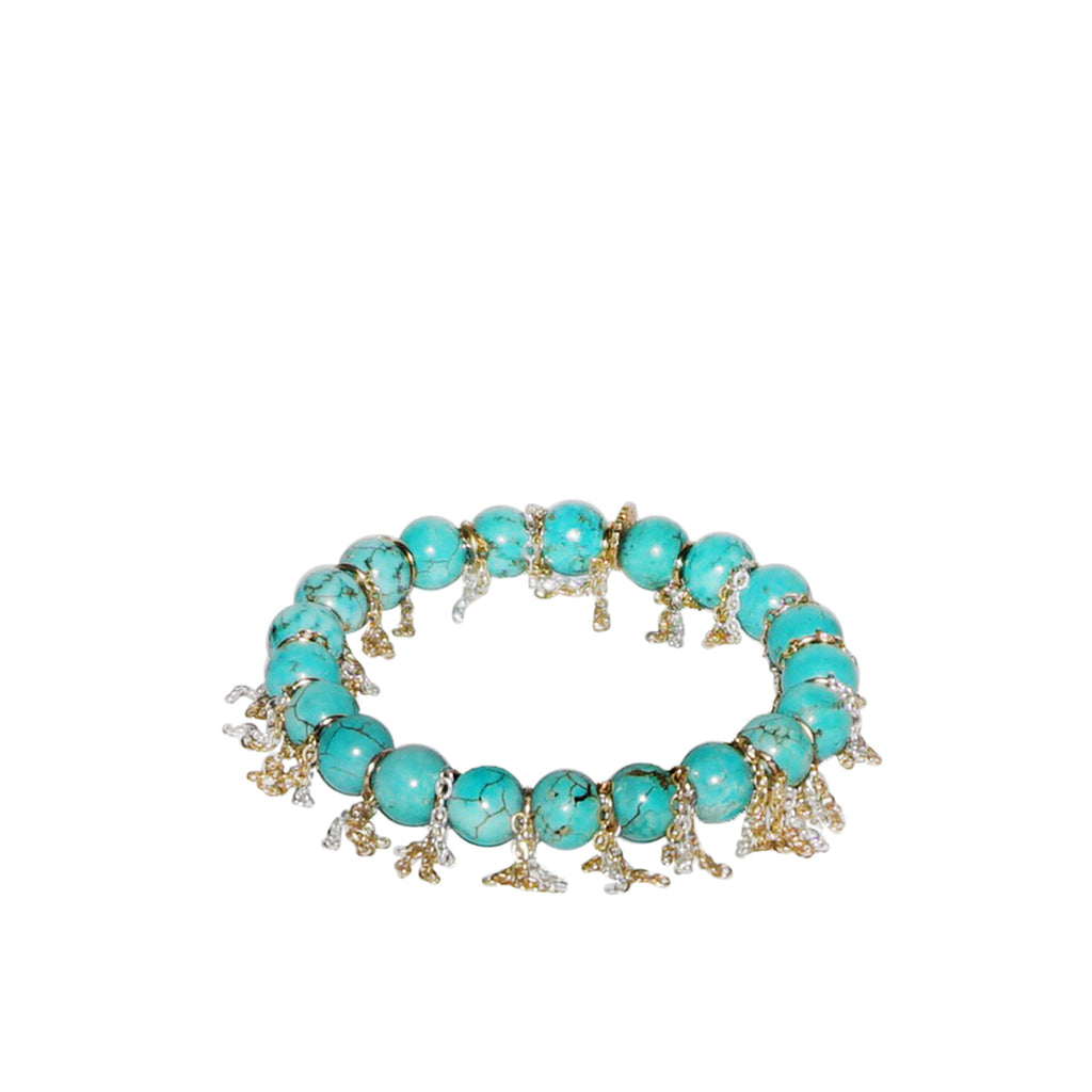beaded chain fringe bracelet