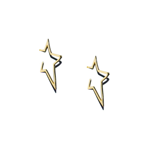 sterling star mini hoop earring