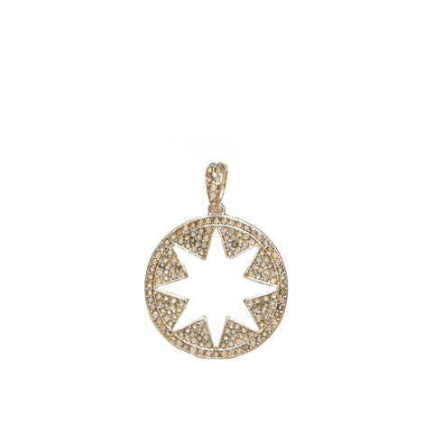 Pave Open Starburst Charm