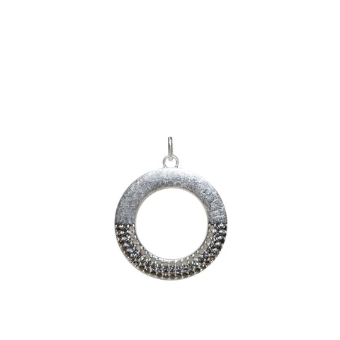 pave open circle charm