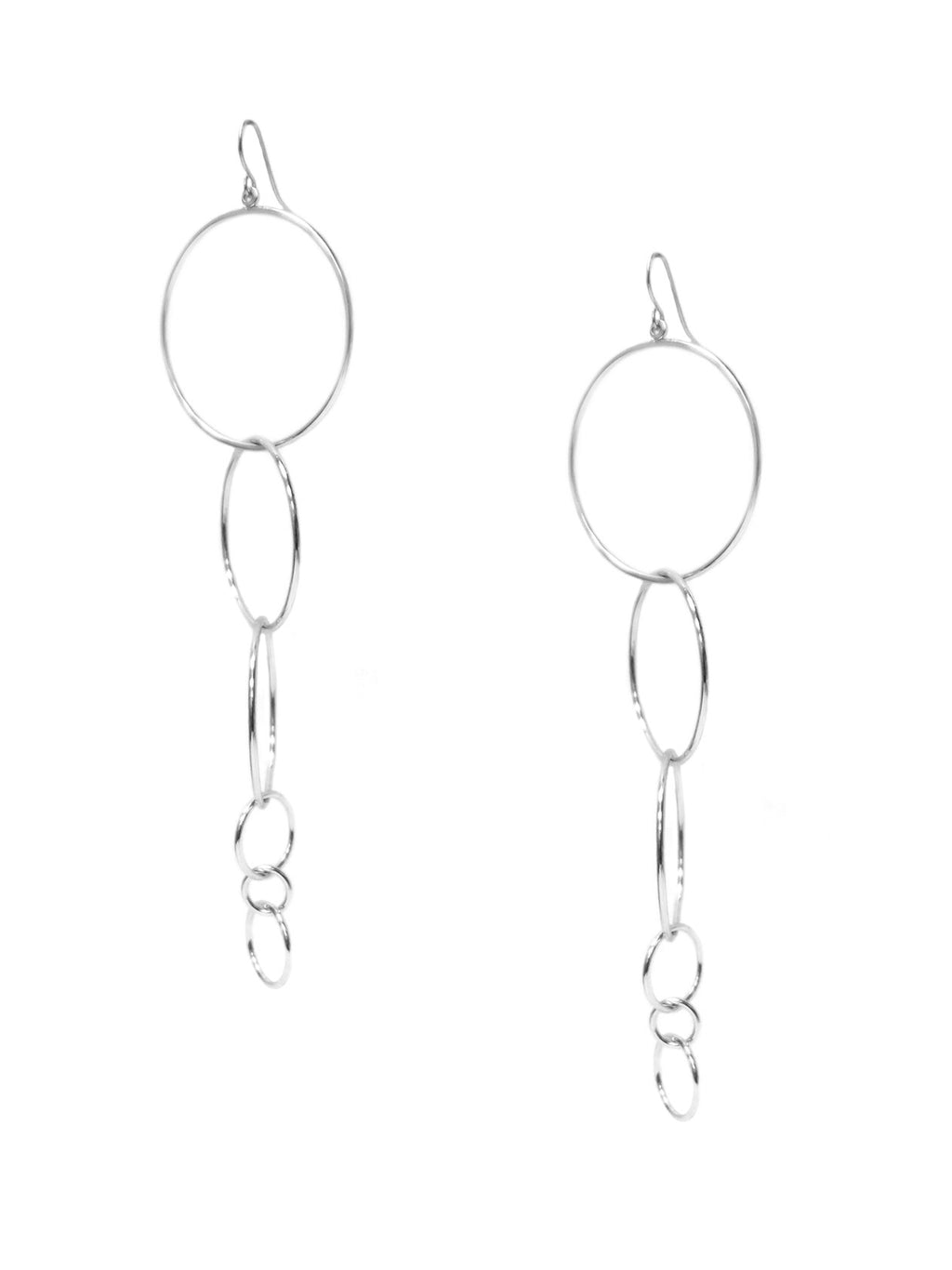 multi circle drop earring