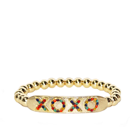 XOXO stretch bracelet