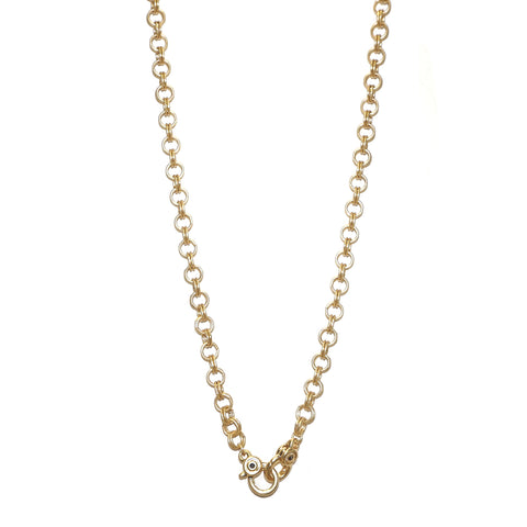 double clasp chain charm necklace for bale charms