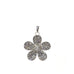 pave flower charm