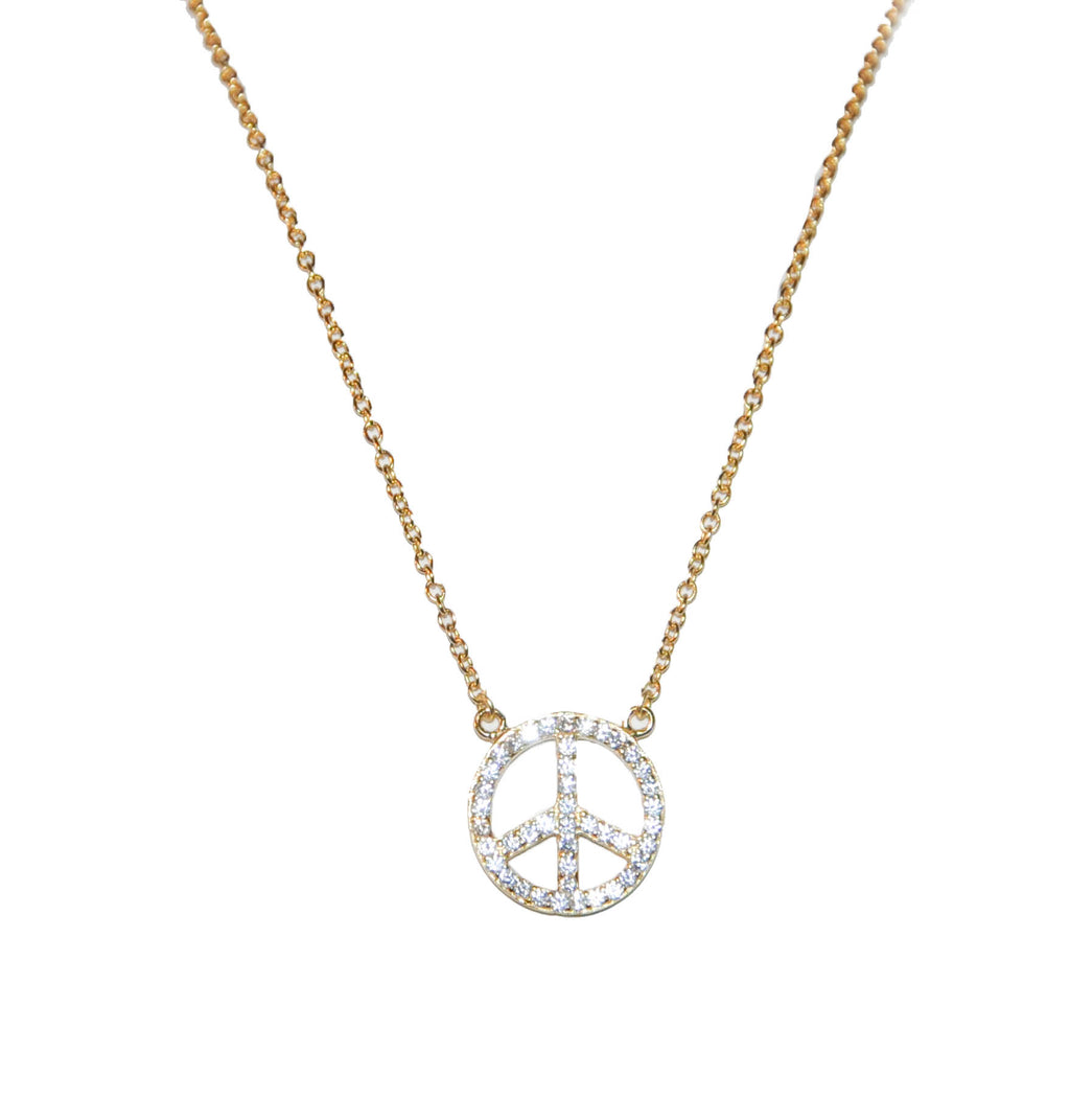 sterling peace necklace