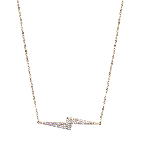 sterling lightning bolt necklace