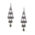 studded chandelier earring