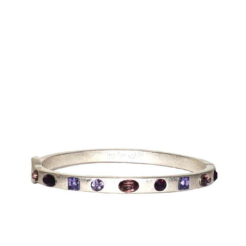 multi shape crystal bangle