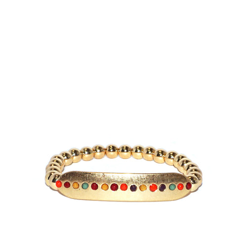 dotted bar stretch bracelet
