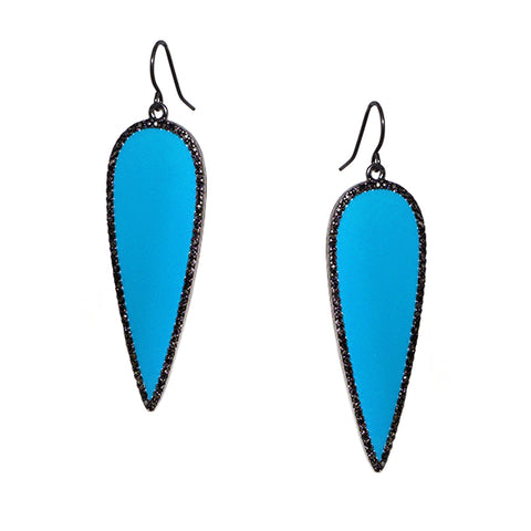 enamel drop earring