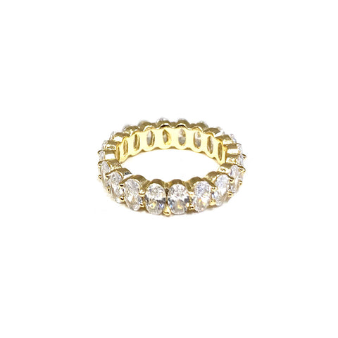 sterling oval crystal ring