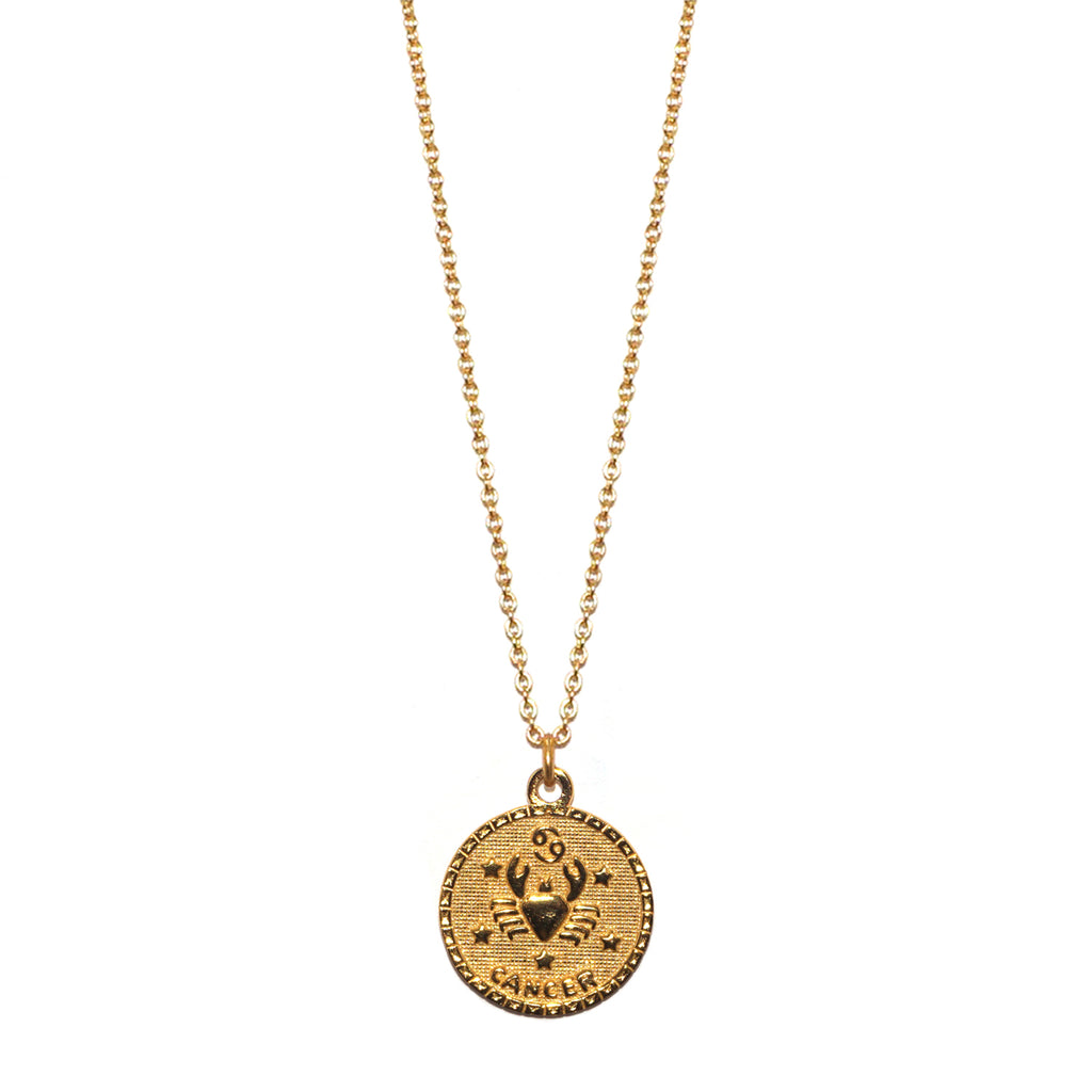 sterling cancer zodiac necklace