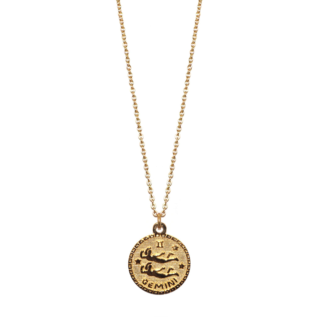 sterling gemini zodiac necklace