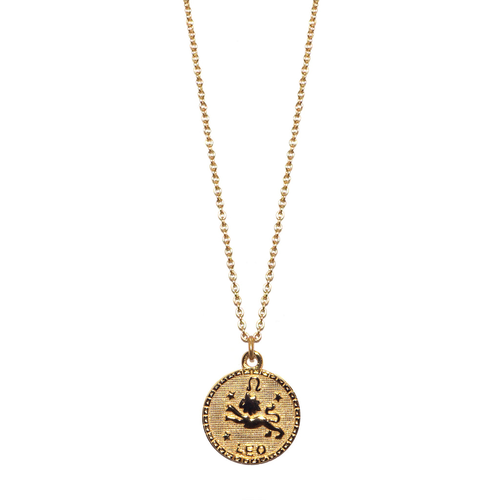 sterling leo zodiac necklace