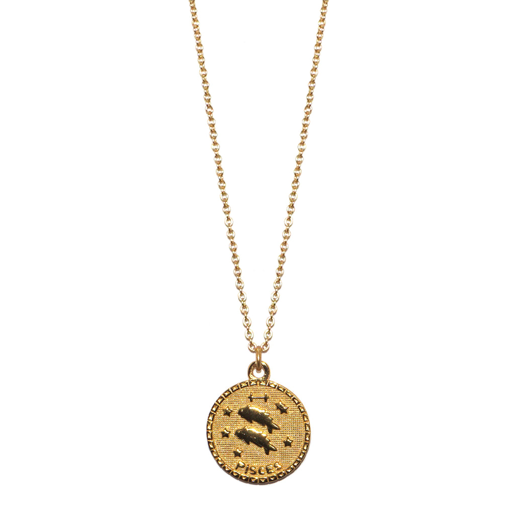 sterling pisces zodiac necklace