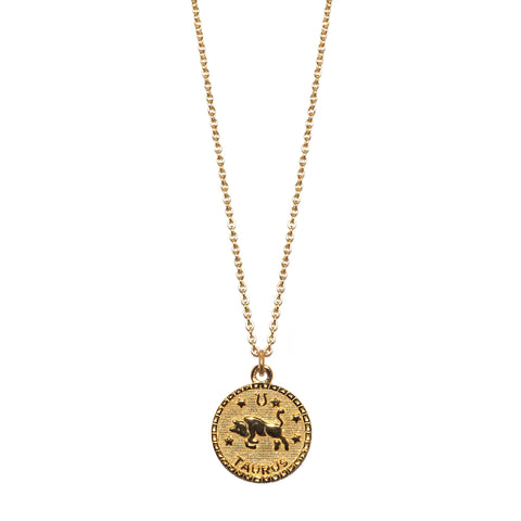 sterling taurus zodiac necklace