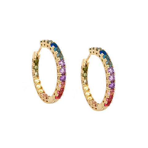 rainbow crystal hoop