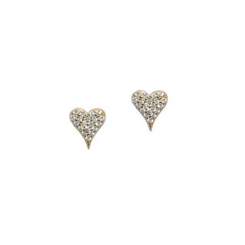 sterling heart post earring
