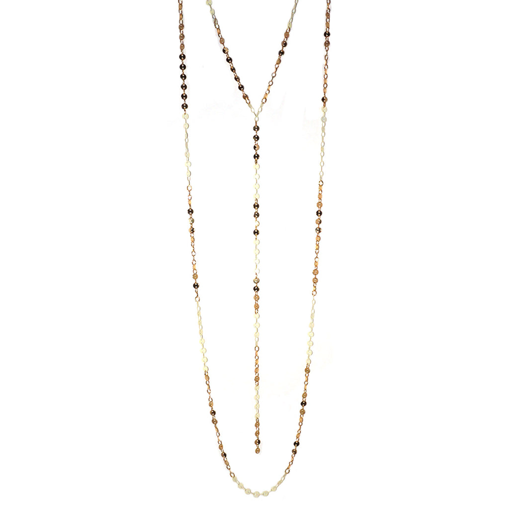 double chain Y necklace
