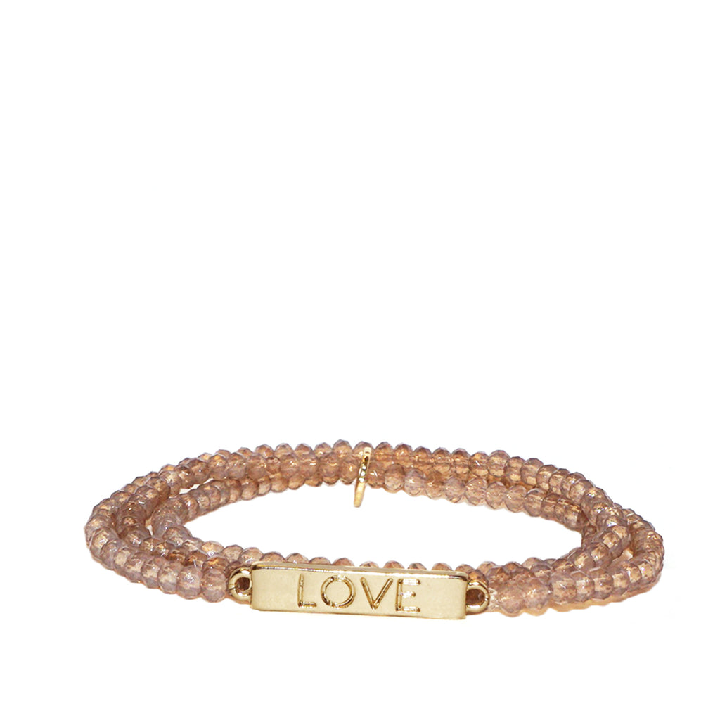 'Love Rules' wrap bracelet