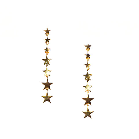 sterling multi star drop earring