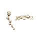 sterling pearl crawler earrings